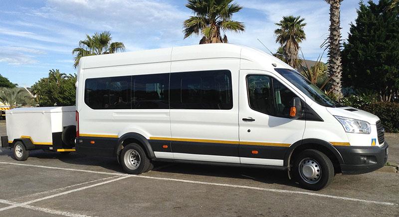 Small tour bus